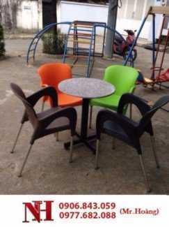 Trọn bộ àn ghế nhựa nữ hoàng đủ màu sắc