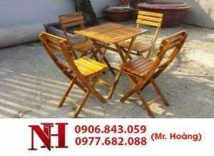 Mẫu bàn ghế gỗ xếp được nhiều quán cà phê lựa chọn nhất