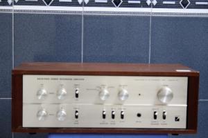 Amplifier cổ LUXMAN SQ-707 vỏ cây 1969