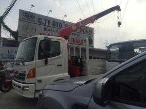 xe tai hino 6 tấn lắp cẩu 3 tấn thùng 6 mét