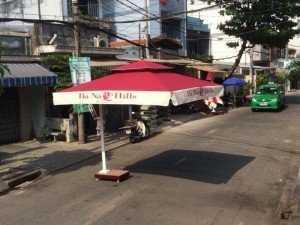 Dù đẩy, khung vuông kinh doanh quán ăn, cafe, khách sạn, nhà hàng
