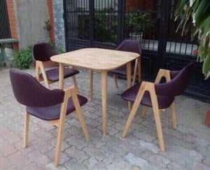 Bộ bàn ghế chữ A cho các quán cafe