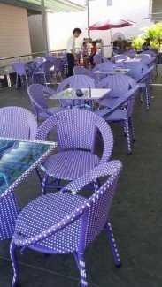 Ghế dĩa mây cho kinh doanh quán ăn, quán cafe
