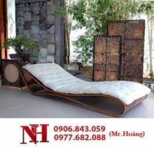 Giường tắm nắng cho resort, chất liệu mây
