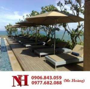 Sản xuất giường tắm nắng cho resort, khu du lịch