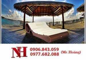 Mẫu giường tắm nắng sang trọng cho khu nghỉ dưỡng