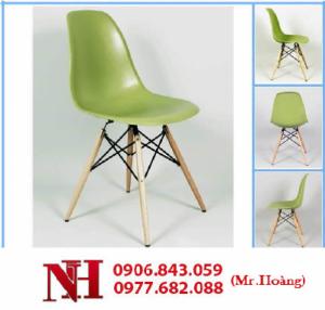 Ghế cà phê chân gỗ, nhiều màu sắc