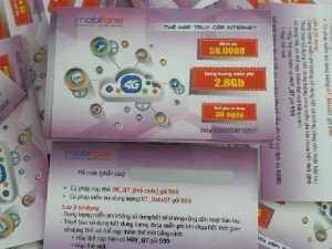 Thẻ cào data 2800MB sd30 ngày mobifone