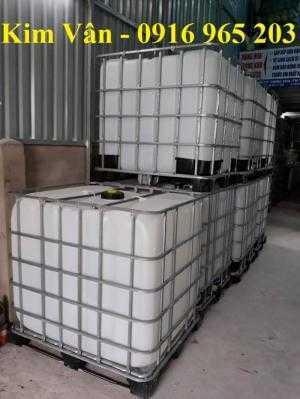 Tank nhựa cũ 1000 lít, bồn nhựa vuông trắng có khung sắt, thùng nhựa vuông cũ 1000 lít