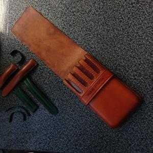 Bao đựng bút da bò Châu ÂU, loại 4 ngăn dạng BOX nắp dài