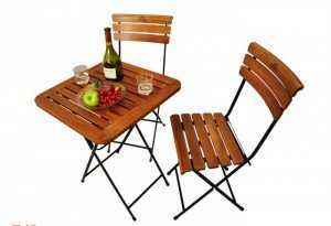 Bàn ghế gỗ xếp cafe sân vườn
