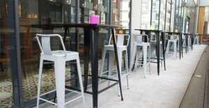 Ghế Tolix Bar cafe có lưng tựa