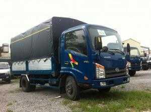 Xe tải VEAM VT252-1 tải 2,4 tấn thùng dài 4m1, máy cầu số Huyndai