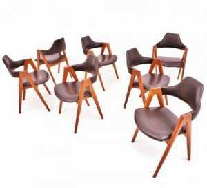 Ghế cafe chân gỗ, mặt nệm simili cao cấp