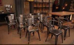 Ghế sắt cafe sơn tĩnh điện phong cách