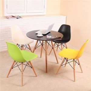 Bàn ghế nhựa đúc, chân gỗ cao cấp