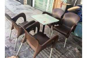 Bộ bàn ghế cafe nhựa đúc, inox giá xuất xưởng. Giao hàng toàn quốc. Liên hệ: 0906843059 Lê Hoàng (24/24)