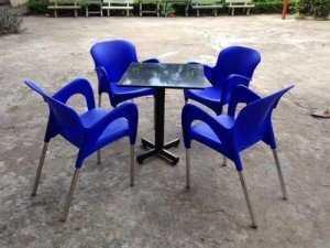 Bộ bàn ghế cafe nhựa đúc, inox giá xuất xưởng. Liên hệ: 0906843059 Lê Hoàng (24/24)