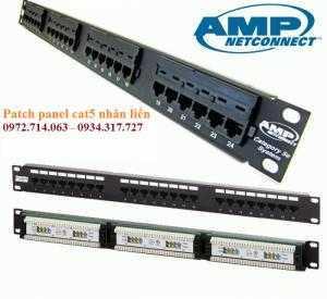 Thanh đấu nối, Patch Panel commscope cat5e, thanh đấu nối amp commscope cat6, 24 cổng nhân rời