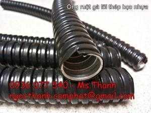 Ống ruột gà kẽm bọc nhựa/ Ống sun sắt luồn dây điện