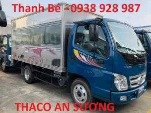 Xe tải Thaco Ollin 345 tải trọng 2 tấn 4, thùng kín, đời 2017, có máy lạnh