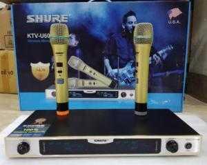 Micro Không dây Shure KTV-U600, thu sóng xa đến 80m