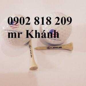 In logo lên bóng golf ,tee golf làm quà tặng