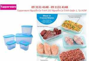 Hộp bảo quản thịt cá Tupperware trong ngăn đông tủ lạnh  FreezerMates (bộ 5 hộp) bảo hành 1 đổi 1