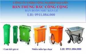 Chuyên phân phối thùng rác 660 lít 4 bánh xe