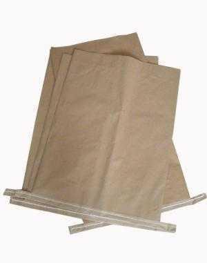Bao Bì giấy Kraft, Bao giấy Kraft ghép vải PP dệt, bao giấy đựng 25Kg