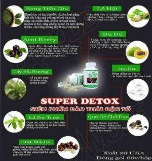Thực phẩm chức năng đào thải độc tố Super Detox cao cấp độc quyền Damode nhập khẩu từ Mỹ