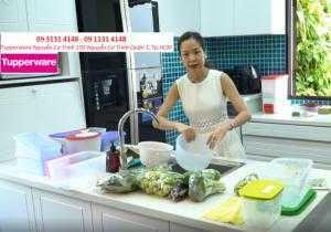 Nhà báo Khánh Vân sử dụng Hộp bảo quản thực phẩm Tupperware để chăm sóc gia đình