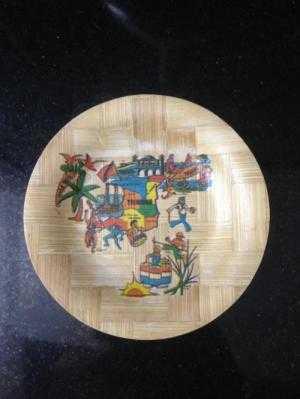 Đĩa trang trí đk 10,8cm, hình bang Florida Mỹ, và nước Trinidad and Tobago Châu Phi
