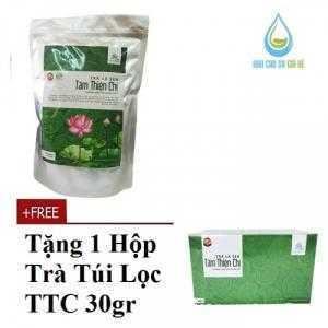 - trà giảm cân Trà lá sen Tâm Thiện chí 150gram tặng trà hộp