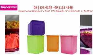 Hộp Bảo Quản Thực Phẩm Tupperware Large Square Round – 4 hộp