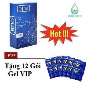 Bao cao su OLeo Dotted-Mint (Hộp 12 Cái) Tặng gel VIP