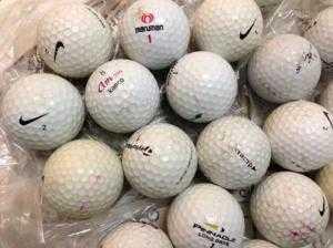 Bóng golf cũ 20 quả. Bán giá 20k/qu