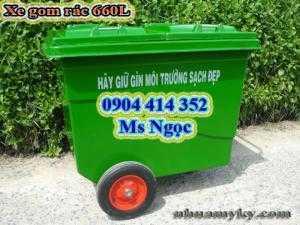 Thùng rác có bánh xe 660 lít, xe đẩy rác 1000 lít. Thùng rác công cộng 660 lít, xe thu gom rác 1000 lít tpHCM