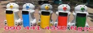 Mua thùng rác nhựa hình thú giá rẻ : thùng rác con voi, thùng rác chim cánh cụt, thùng rác cá heo...