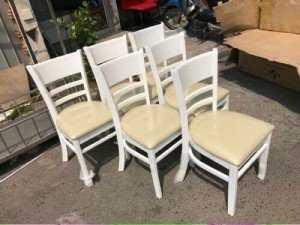 Thanh lý mấy cái ghế gỗ tựa lưng cho phòng ăn