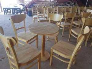 Bộ bàn ghế phòng ăn, 4 ghế, 1 bàn tròn