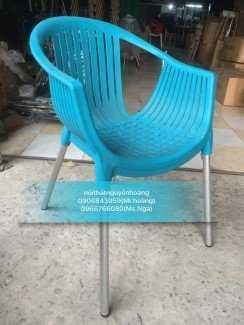 Ghế nhựa chân sắt kinh doanh cafe, đủ màu sắc
