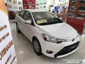 Bán Toyota Vios 1.5G đời 2018, màu trắng, full option, hỗ trợ trả góp lãi suất 0.49%