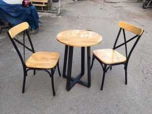 Bộ bàn ghế quán ăn, 2 ghế, 1 bàn tròn