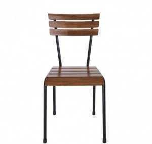 Mẫu ghế tựa lưng gỗ, khung sắt