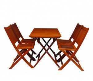 Trọn bộ bàn ghế gỗ xếp giá xưởng