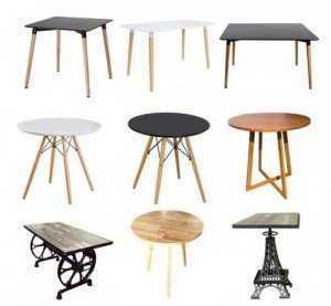 Mẫu bàn ăn chân gỗ, thiết kế sang trọng cho phòng ăn