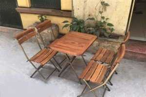 Bộ bàn ghế xếp chất lượng cho quán cafe