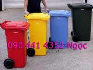 Bán thùng rác 120 lít, thùng đựng rác 240 lít. Nơi bán thùng rác 120L giá rẻ, thùng rác 240L TPHCM