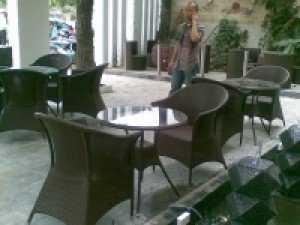 Bộ bàn ghế cafe nhựa giả mây cao cấp